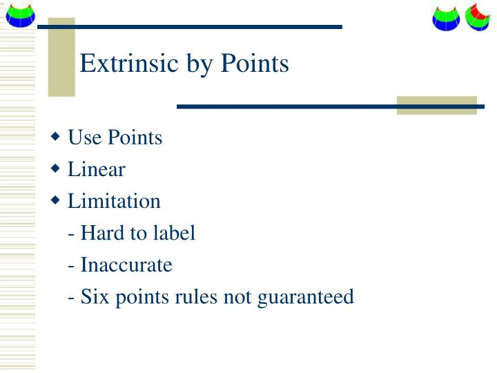 Extrinsic by Points