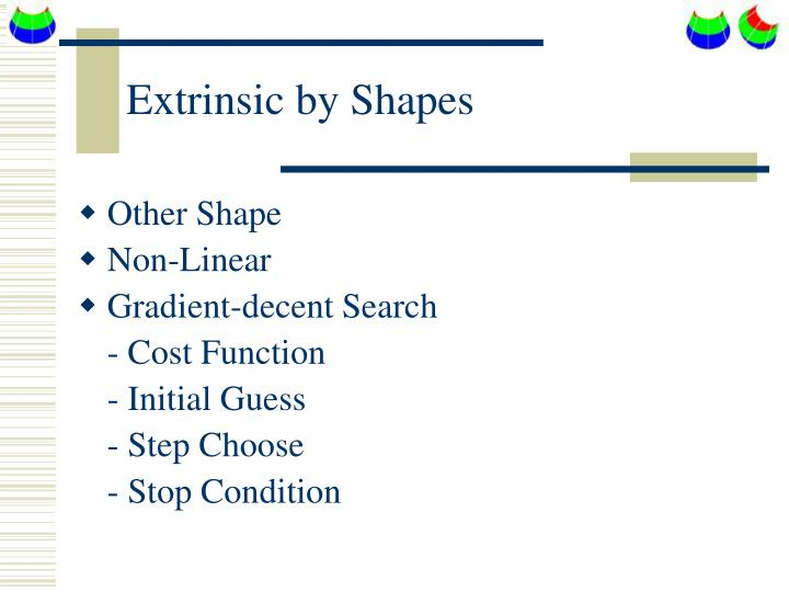 Extrinsic by Shapes