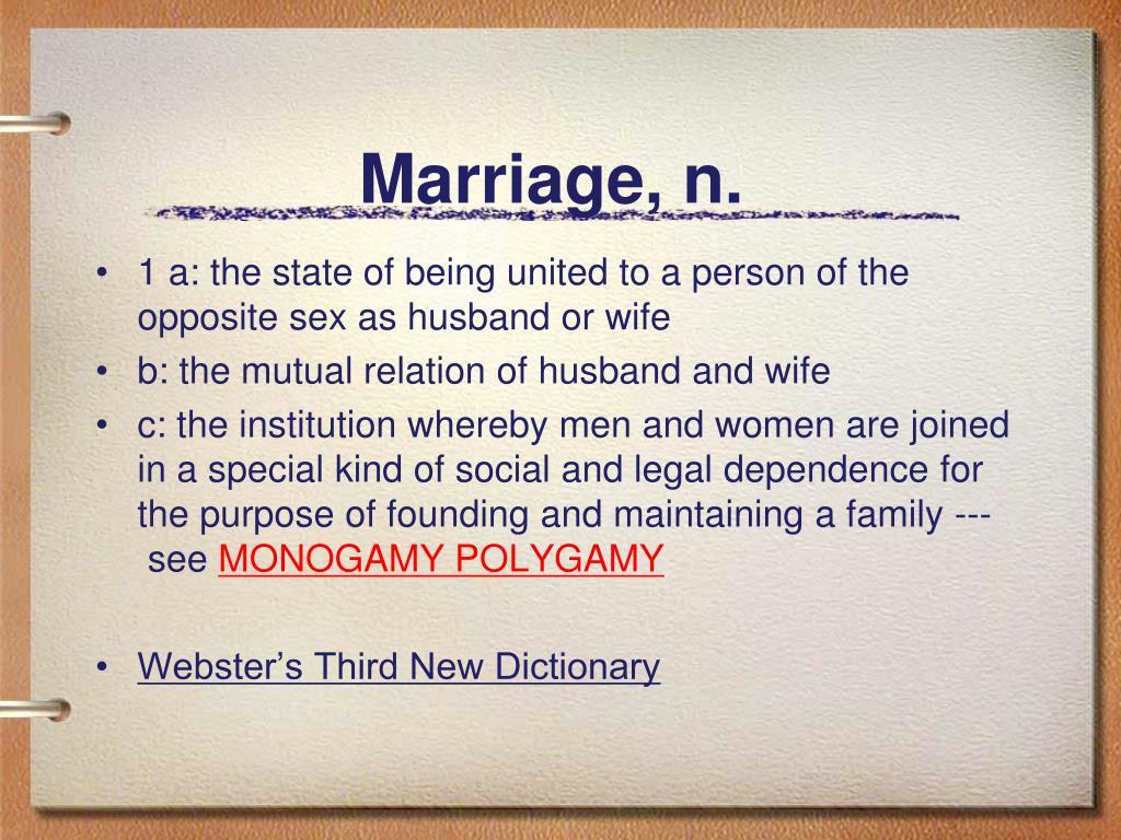 Marriage, n.