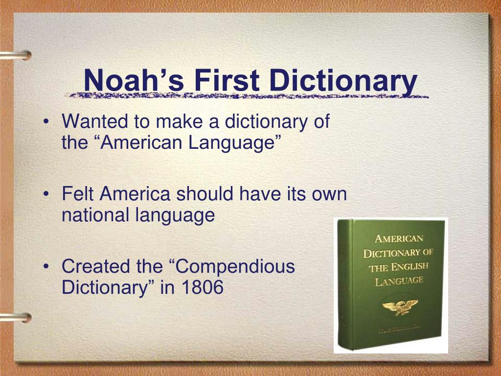 Noah's First Dictionary
