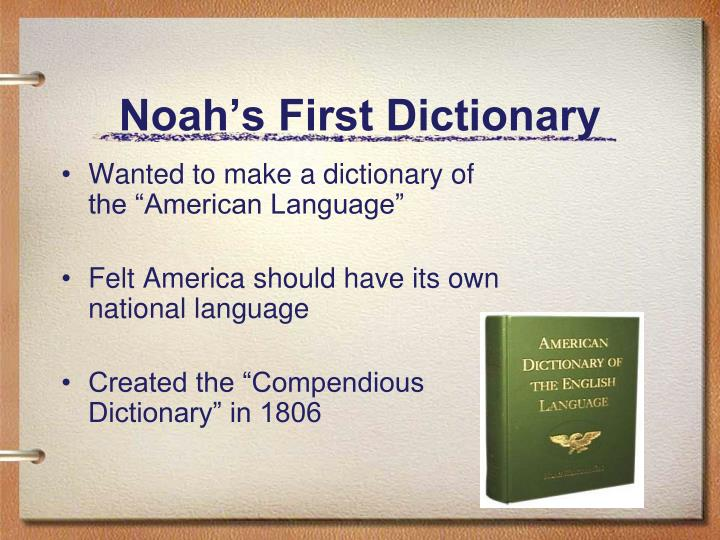 Noah s first dictionary