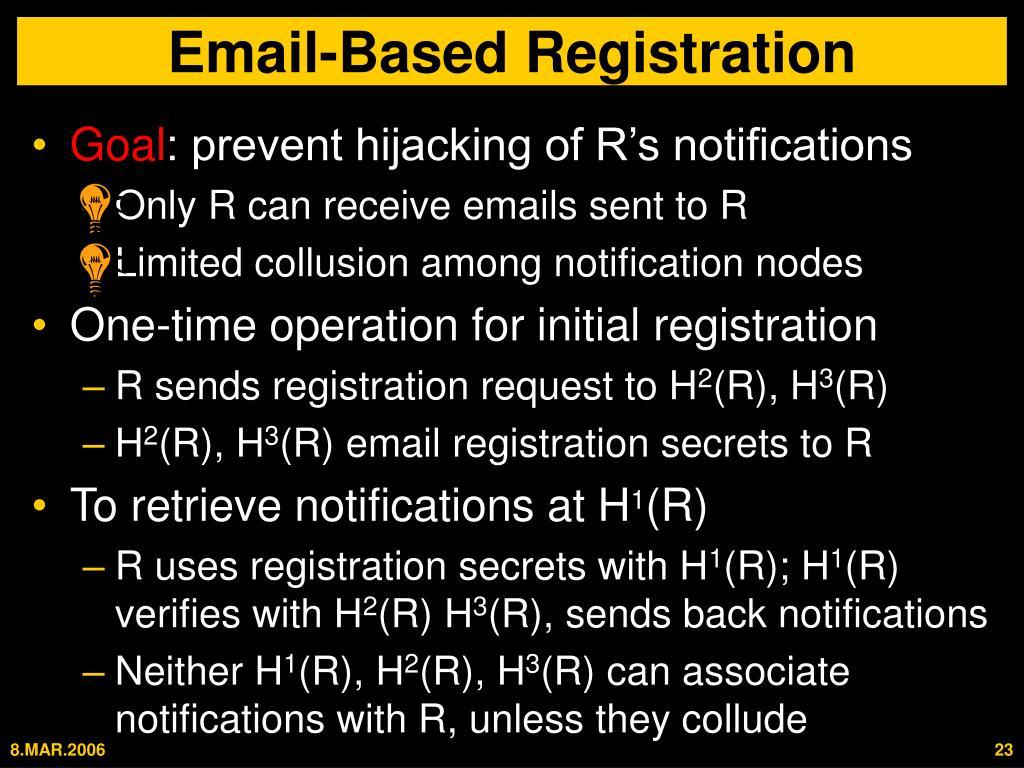 Email-Based Registration