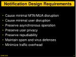 notification design requirements