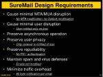 suremail design requirements