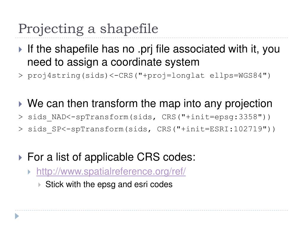 Projecting a shapefile