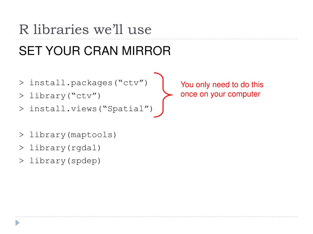 R libraries we'll use