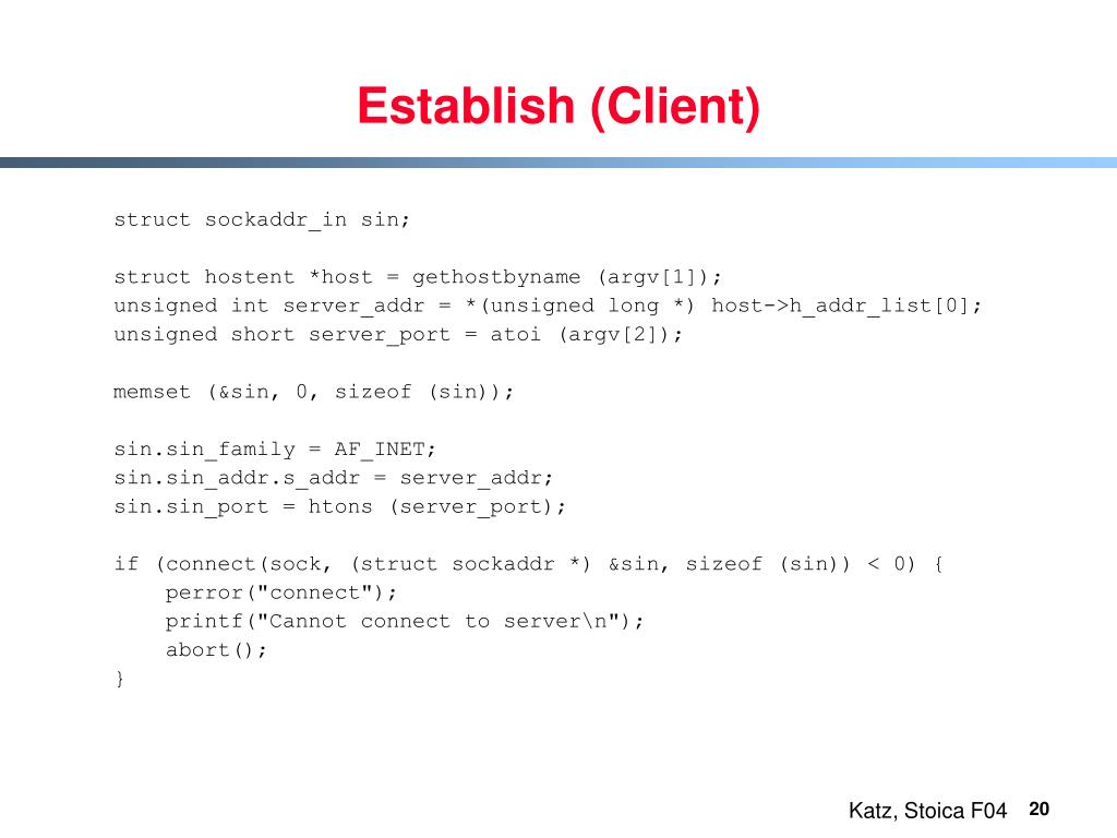 Establish (Client)
