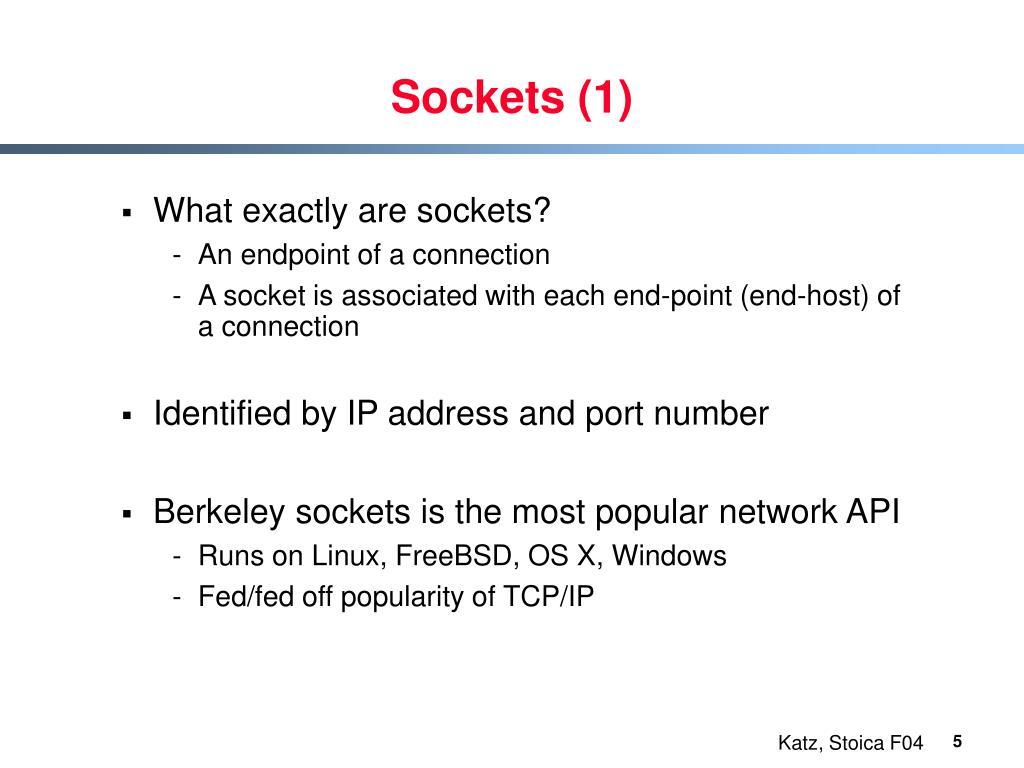 Sockets (1)