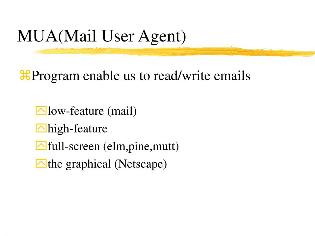 MUA(Mail User Agent)