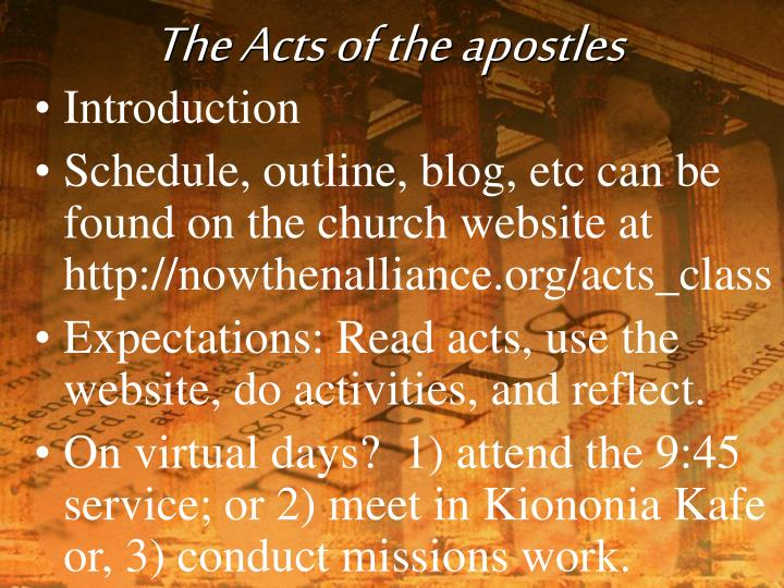 The acts of the apostles l.jpg