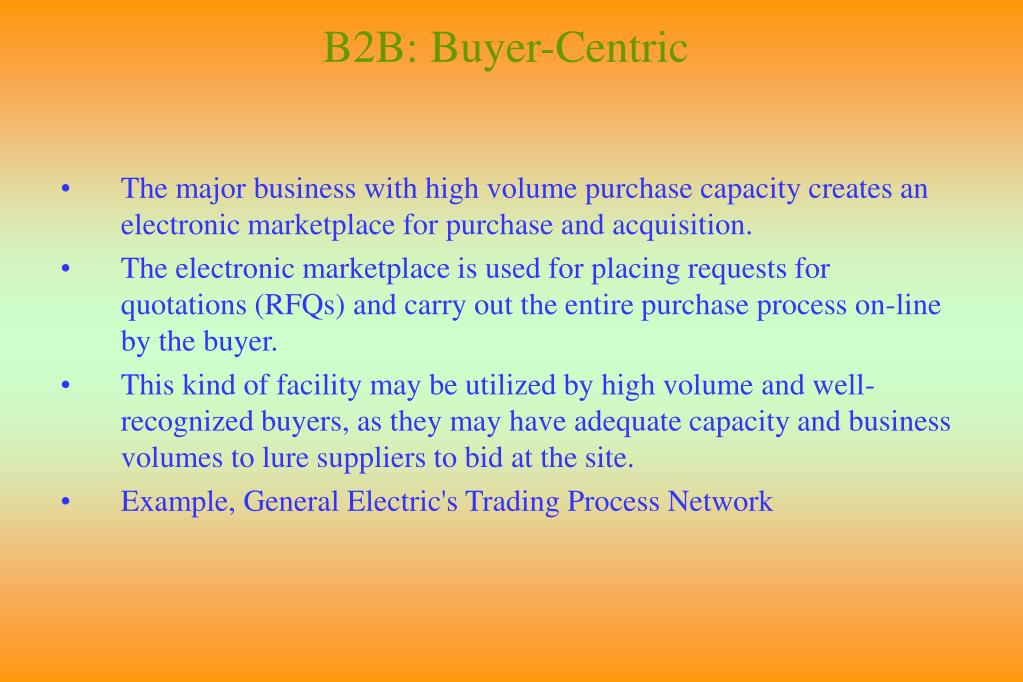 B2B: Buyer-Centric