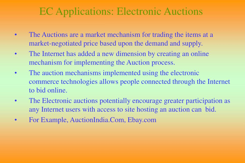 EC Applications: Electronic Auctions