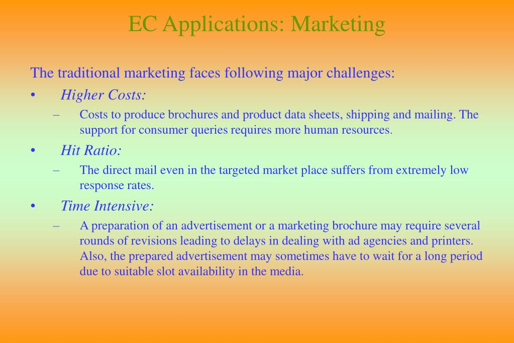 EC Applications: Marketing