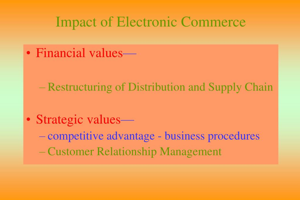 Impact of Electronic Commerce