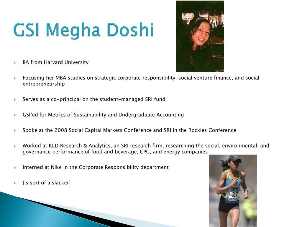 GSI Megha Doshi