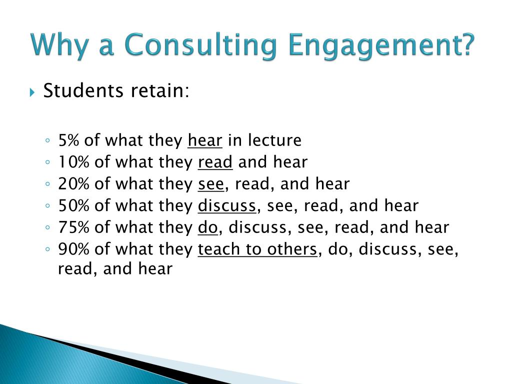 Why a Consulting Engagement?
