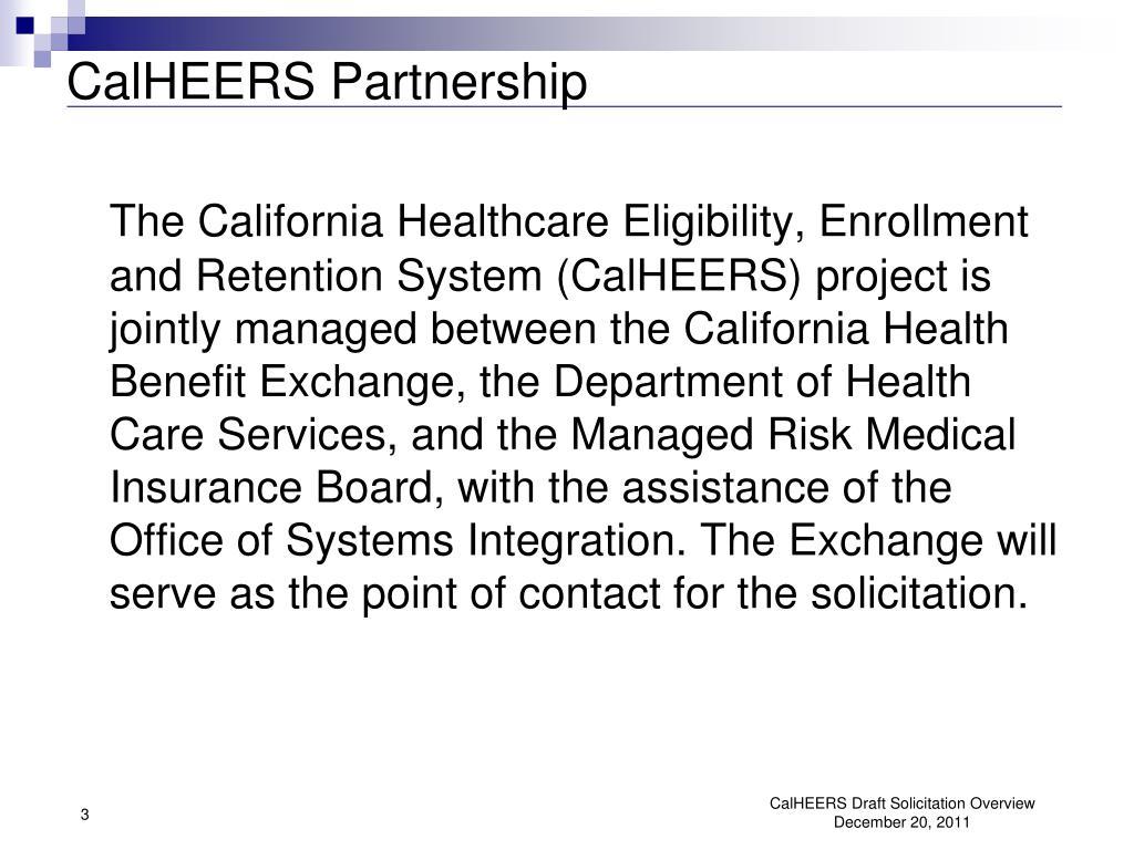 CalHEERS Partnership