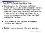 calheers solicitation overview