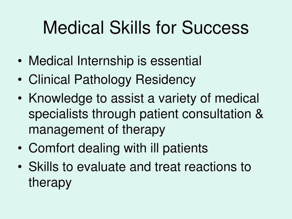 Medical Skills for Success