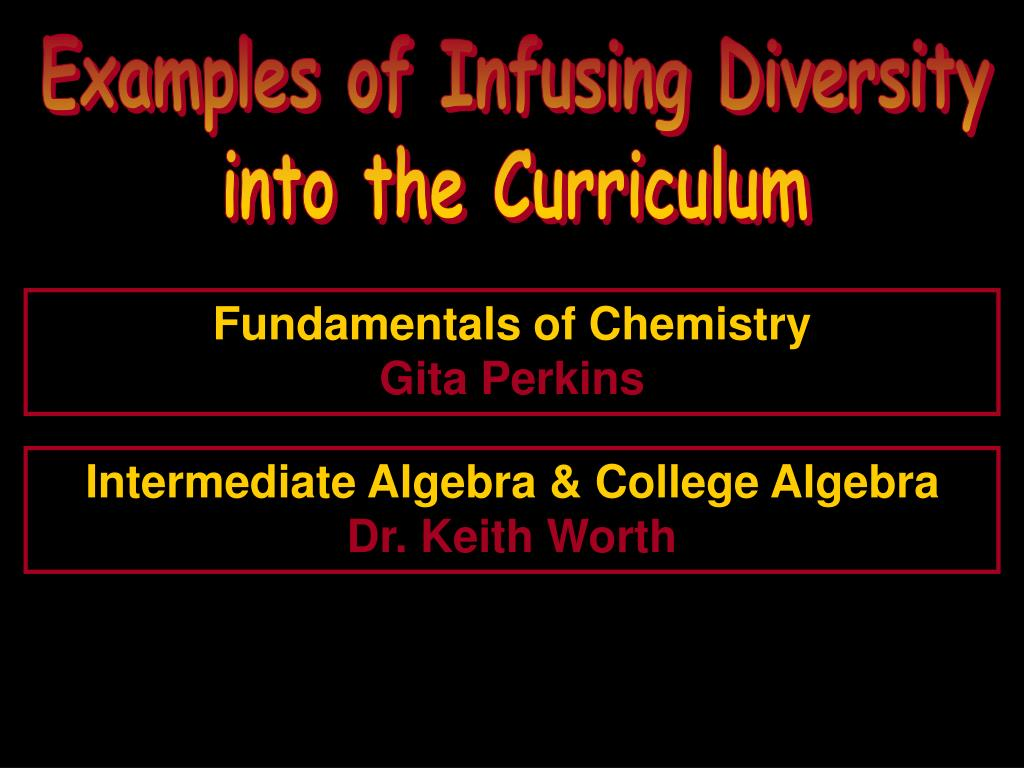 Examples of Infusing Diversity