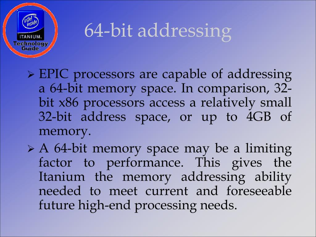 64-bit addressing