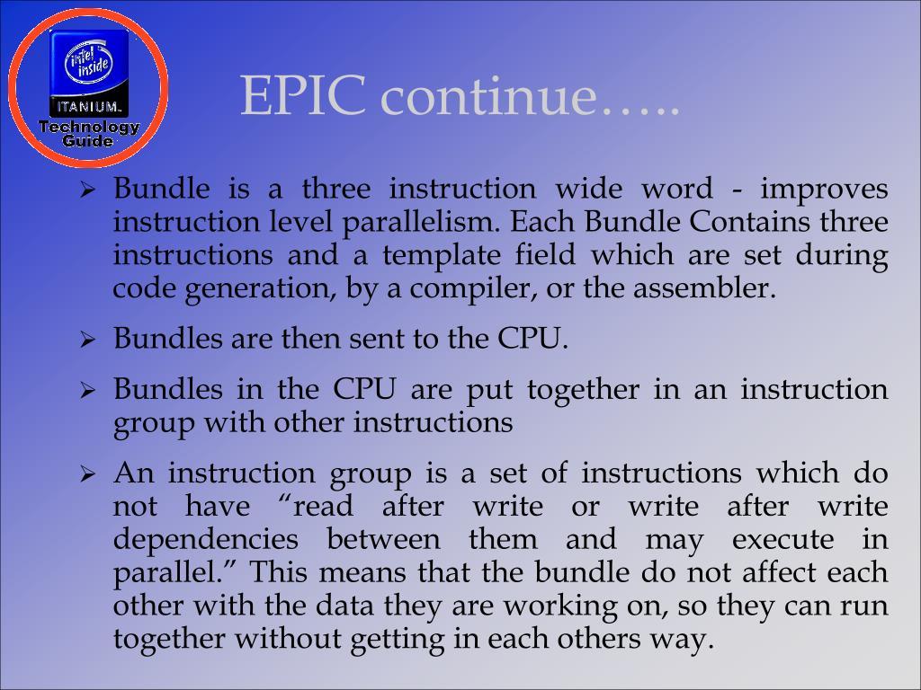 EPIC continue…..