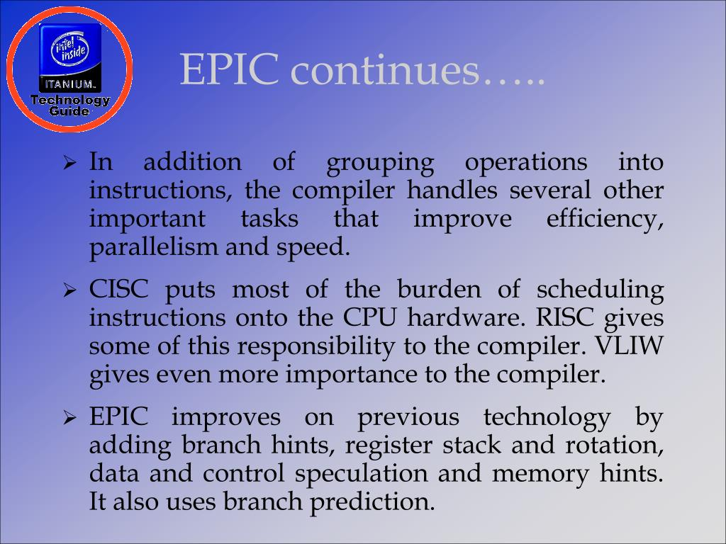 EPIC continues…..