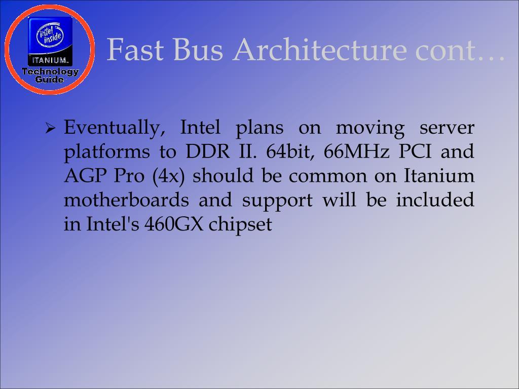 Fast Bus Architecture cont…
