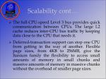 scalability cont