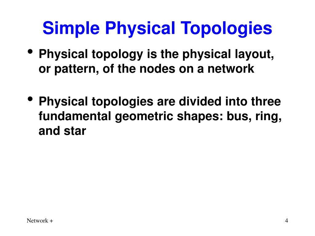 Simple Physical Topologies
