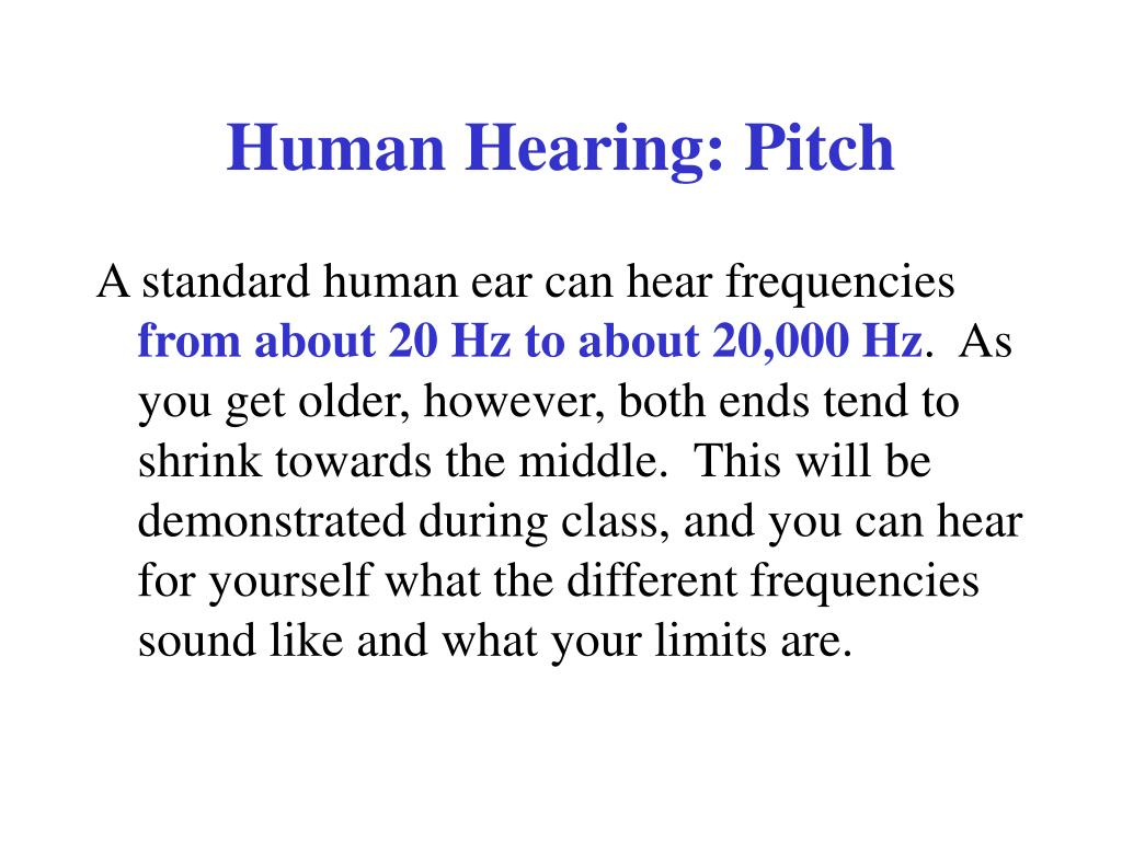 Human Hearing: Pitch