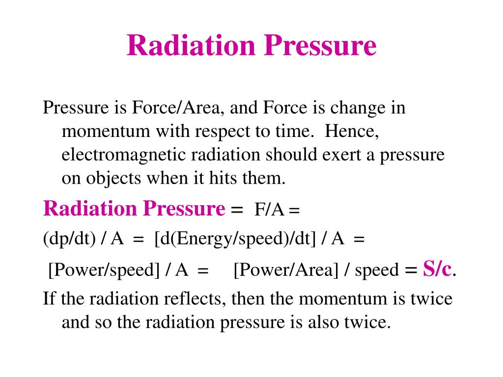 Radiation Pressure