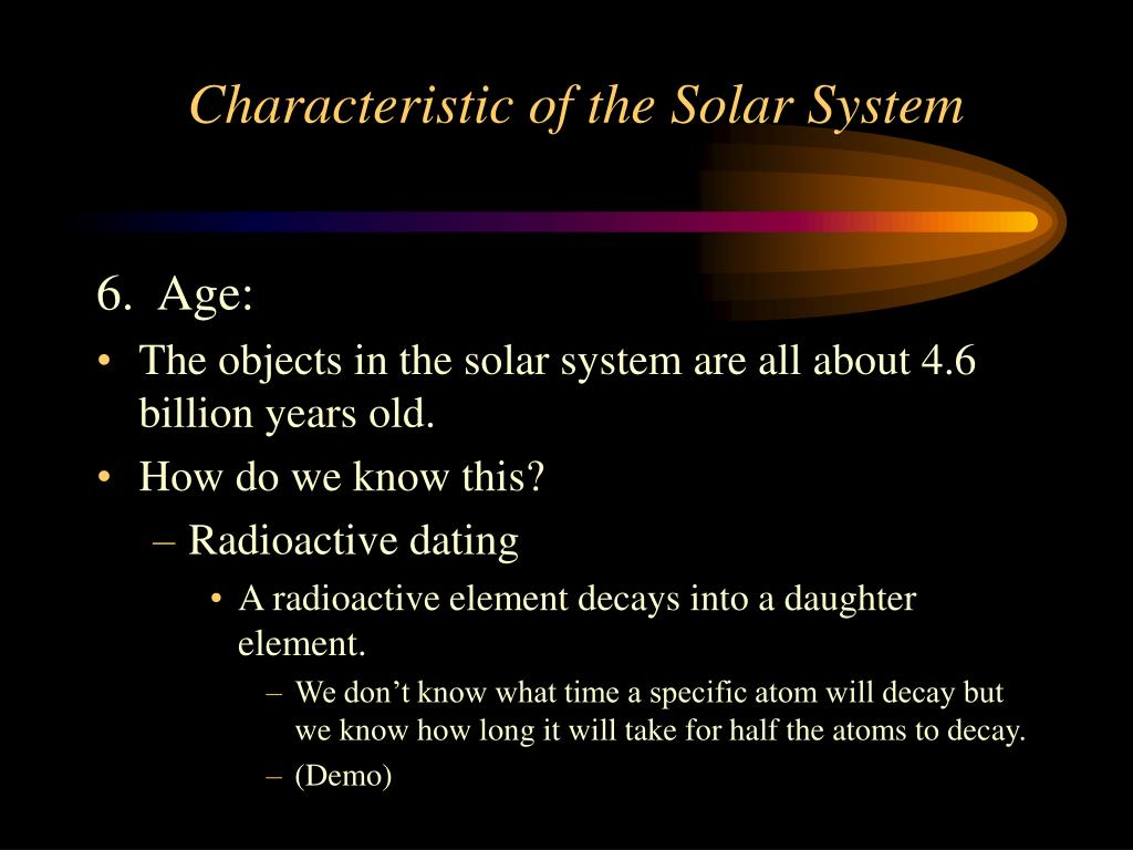 Characteristic of the Solar System