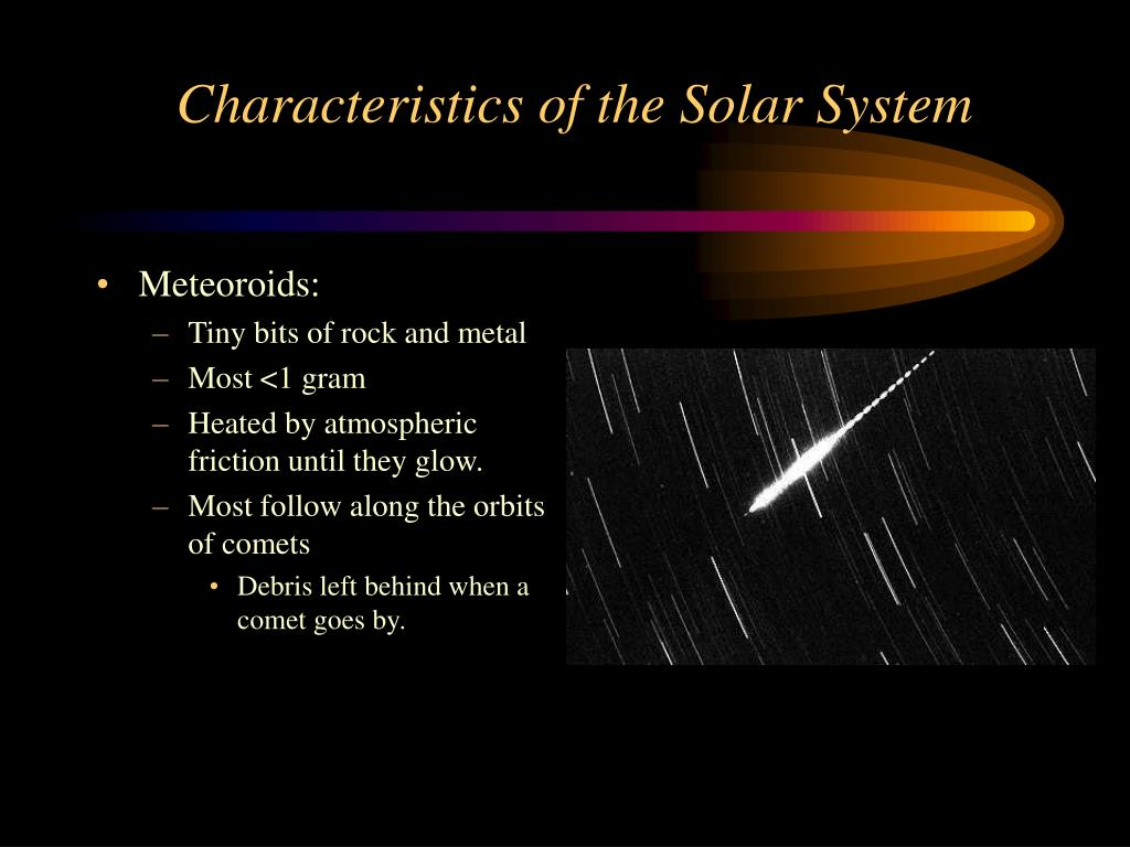 Characteristics of the Solar System