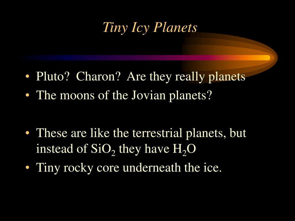 Tiny Icy Planets