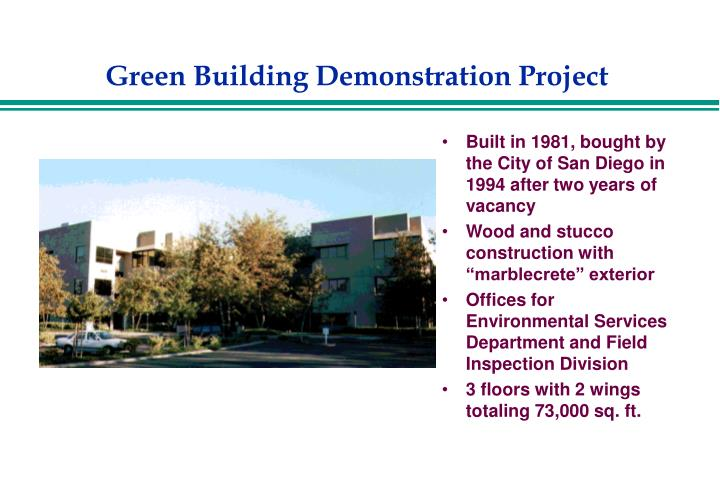 Green building demonstration project2