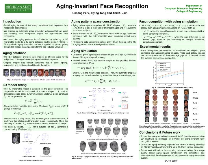 Aging-invariant Face Recognition