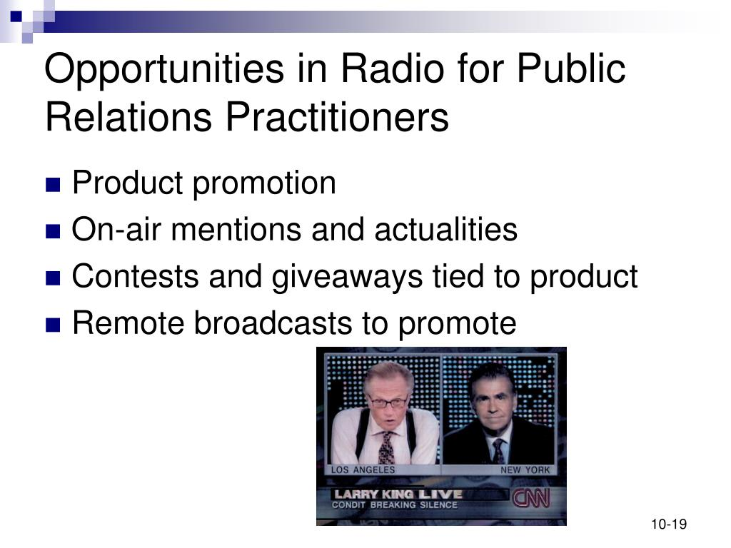 Opportunities in Radio for Public Relations Practitioners