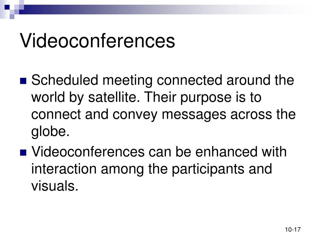Videoconferences