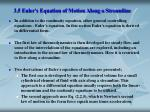 3 5 euler s equation of motion along a streamline