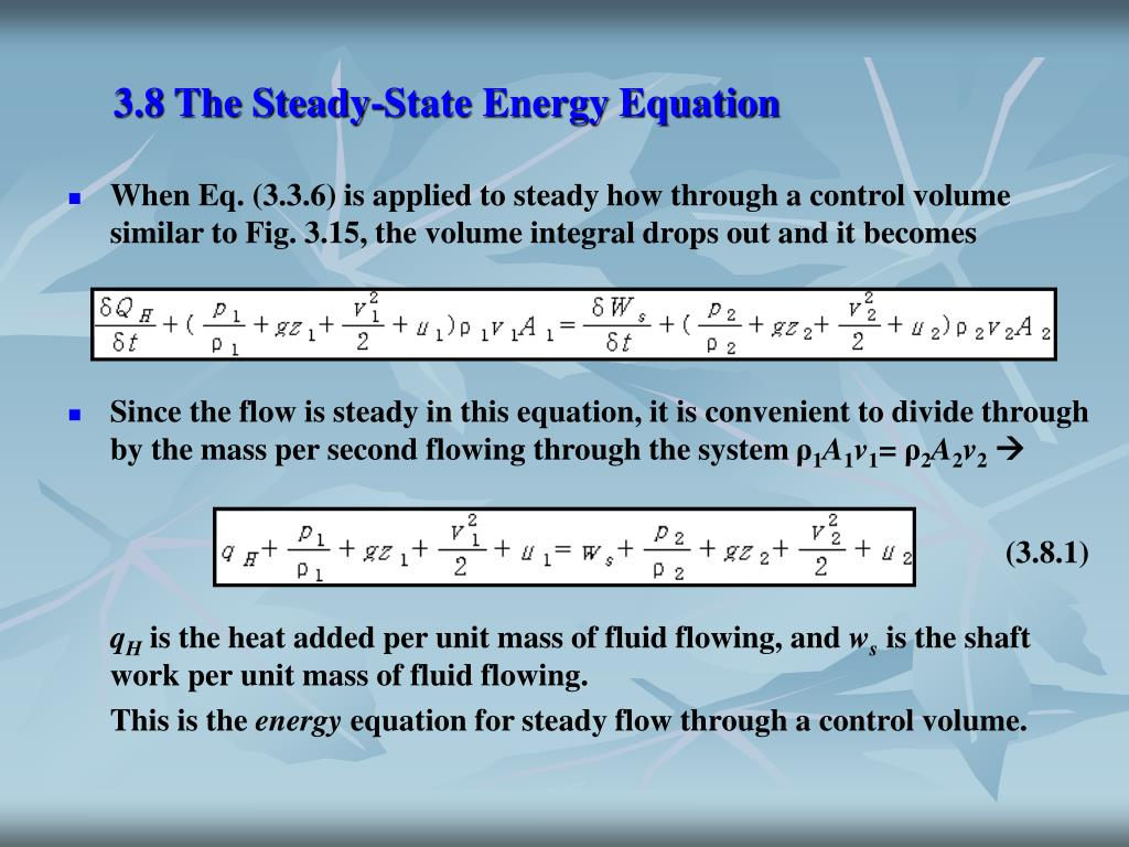 3.8 The Steady-State Energy Equation