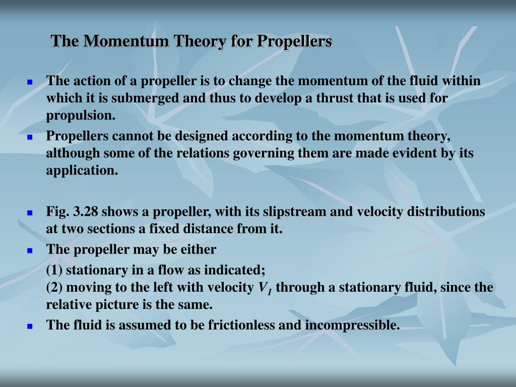 The Momentum Theory for Propellers