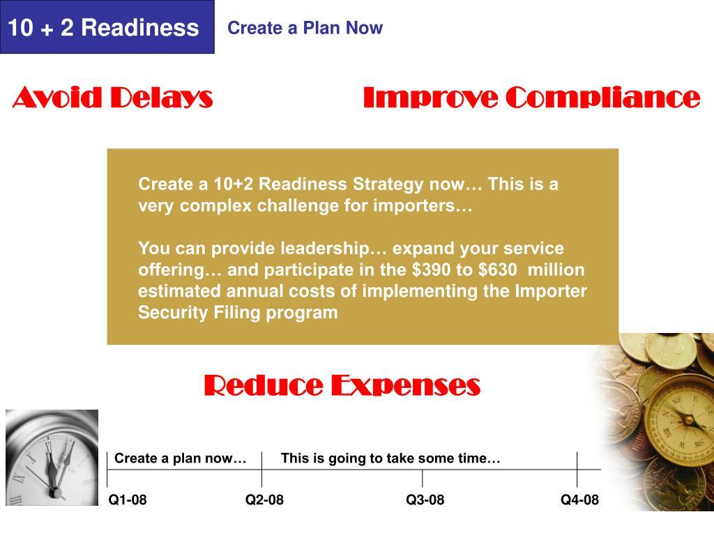 10 + 2 Readiness