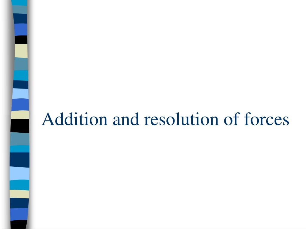 Addition and resolution of forces