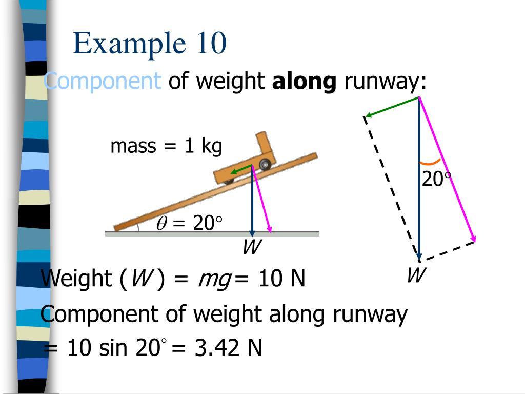 mass = 1 kg