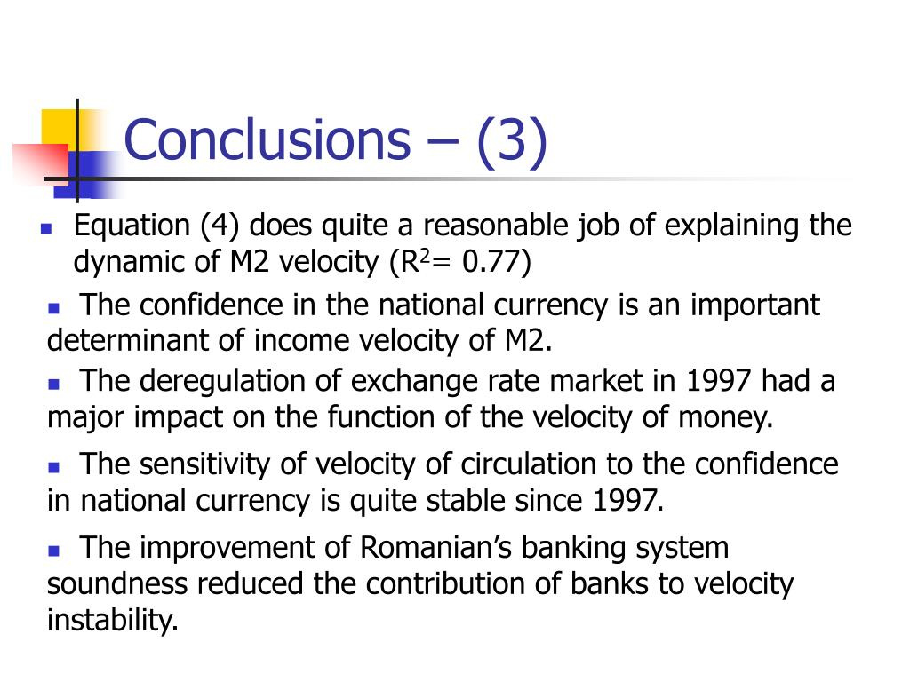 determinants of velocity of money The income velocity of money in china has been declining since the country's reform by studying the money demand behavior in the agricultural and non.