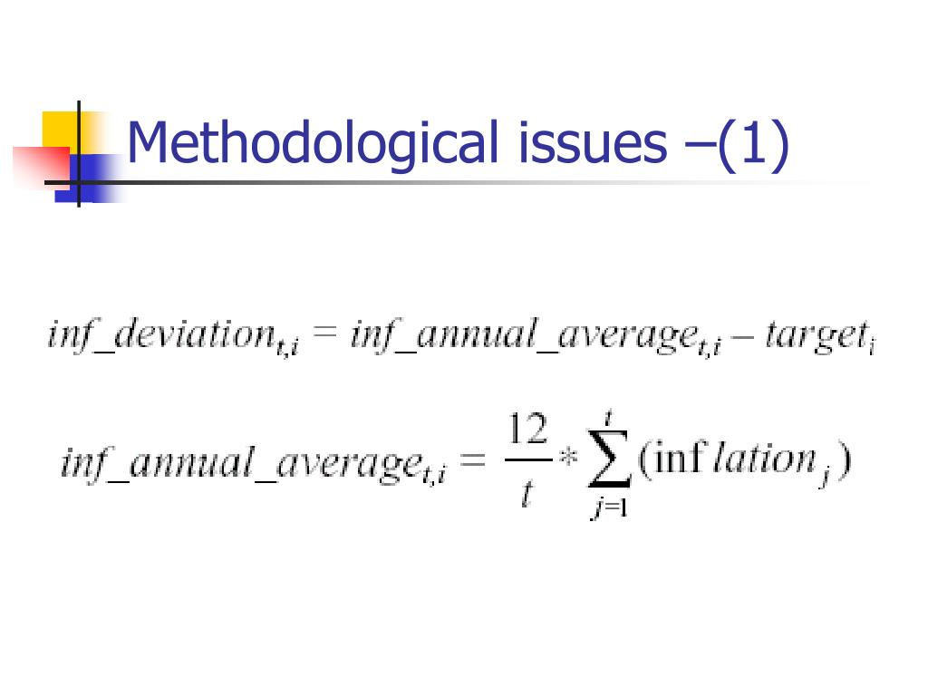 Methodological issues –(1)