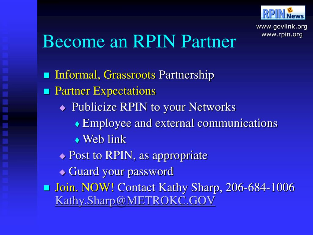Become an RPIN Partner