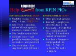 help wanted from rpin pios