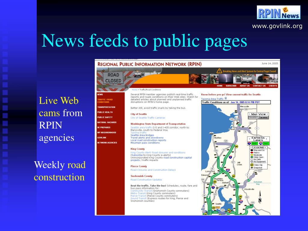 News feeds to public pages